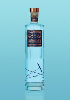 Albatross Vodka 750ml Blue Bottle Blue background